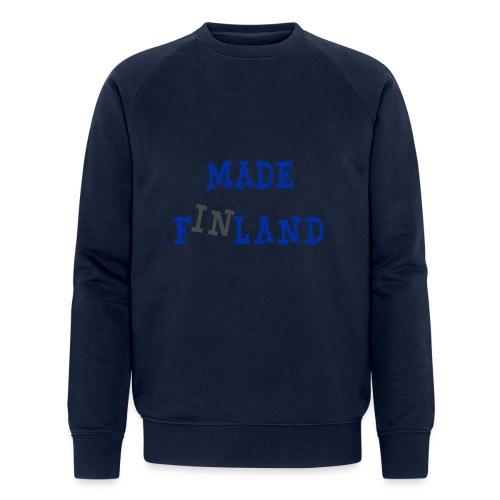 Made in Finland - Stanley & Stellan miesten luomucollegepaita