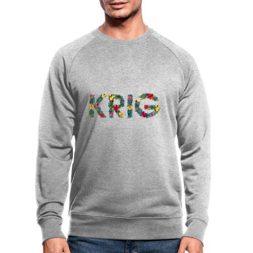 Blomstrende krig - Økologisk sweatshirt for menn