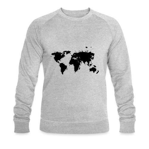 Weltkarte Splash - Männer Bio-Sweatshirt von Stanley & Stella