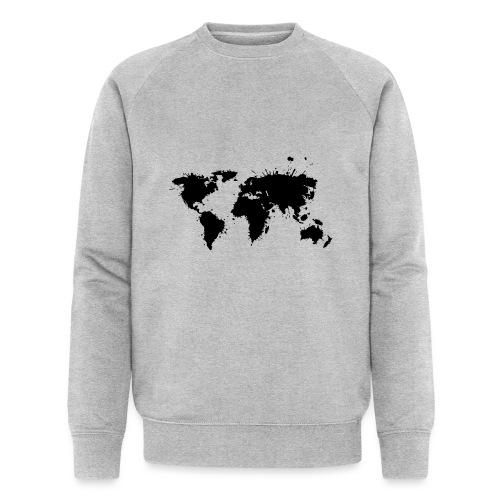 Weltkarte Splash - Männer Bio-Sweatshirt