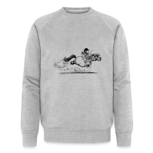 Thelwell Cartoon Pony Sprint - Männer Bio-Sweatshirt von Stanley & Stella