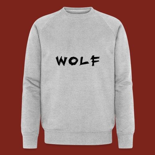 Wolf Font png - Mannen bio sweatshirt