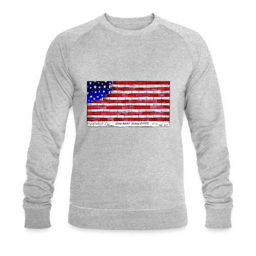 Good Night Human Rights - Men's Organic Sweatshirt by Stanley & Stella