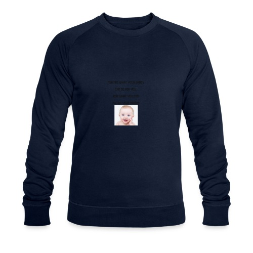 daddy tshirt sort tekst - Men's Organic Sweatshirt by Stanley & Stella