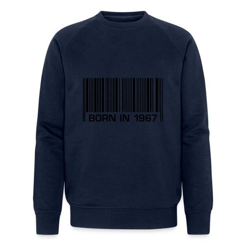 born in 1967 50th birthday 50. Geburtstag barcode - Men's Organic Sweatshirt by Stanley & Stella