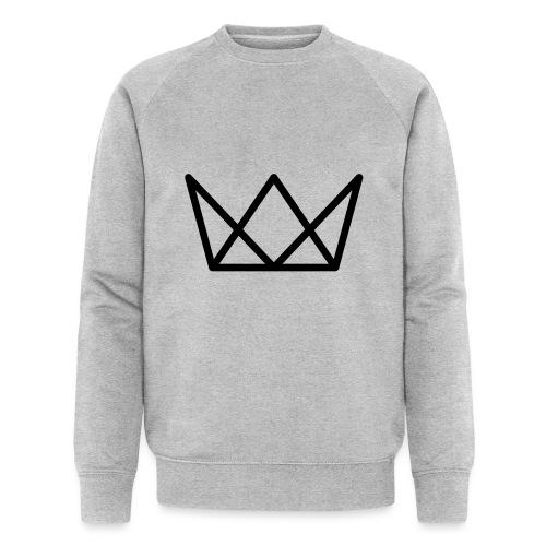 TKG Krone schwarz CMYK - Männer Bio-Sweatshirt