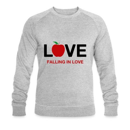 Falling in Love - Black - Men's Organic Sweatshirt by Stanley & Stella