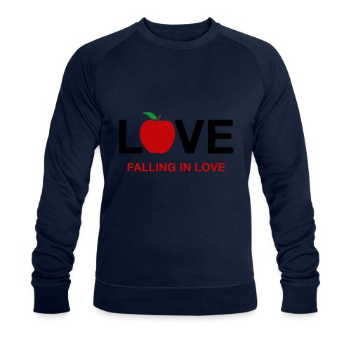 Falling in Love - Black - Men's Organic Sweatshirt