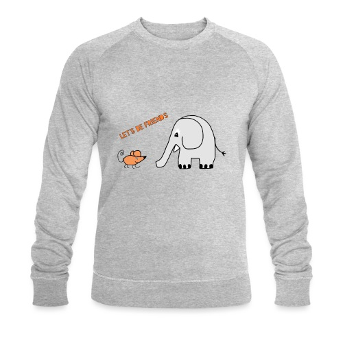 Elephant and mouse, friends - Men's Organic Sweatshirt by Stanley & Stella