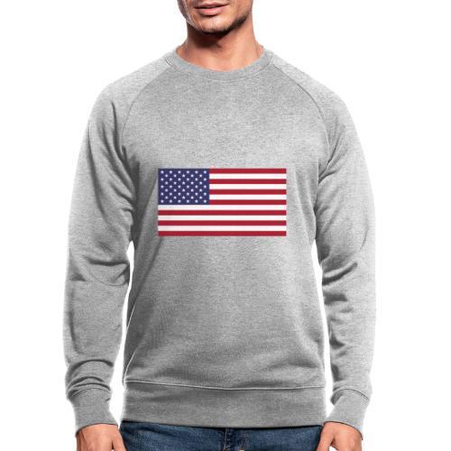 USA flagg - Økologisk sweatshirt for menn fra Stanley & Stella