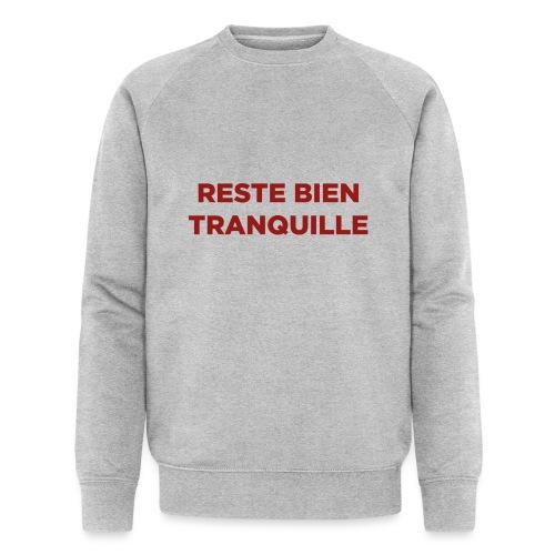 Logo Reste Bien rouge - Sweat-shirt bio Stanley & Stella Homme