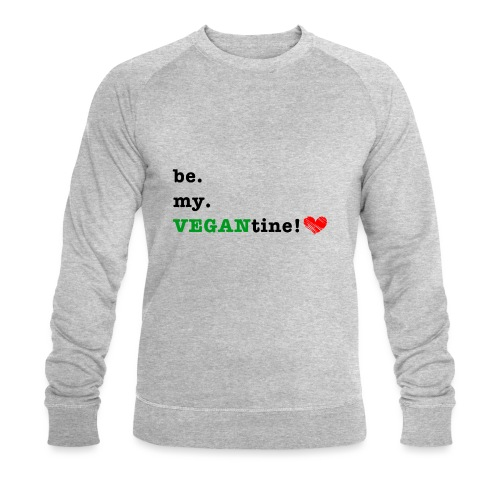 VEGANtine Green - Men's Organic Sweatshirt by Stanley & Stella