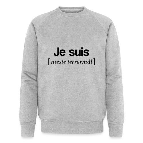 Je suis (sort skrift) - Økologisk Stanley & Stella sweatshirt til herrer