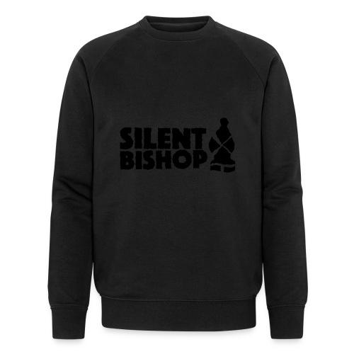 Silent Bishop Logo Groot - Mannen bio sweatshirt