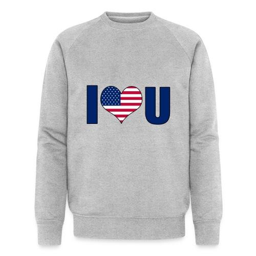 I love u USA - Men's Organic Sweatshirt by Stanley & Stella