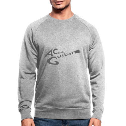 Acoustic Guitar Logo - Gray - Men's Organic Sweatshirt