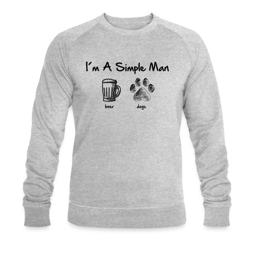 Vorschau: simple man dogs beer - Männer Bio-Sweatshirt von Stanley & Stella