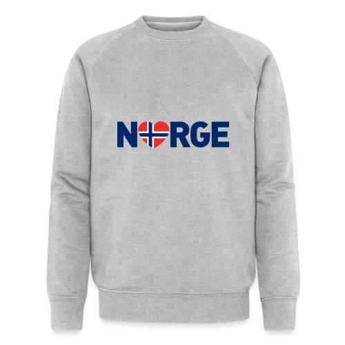Elsker Norge - fra Det norske plagg - Økologisk sweatshirt for menn fra Stanley & Stella