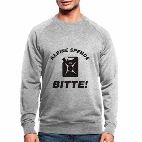 Kleine Spende bitte - Männer Bio-Sweatshirt