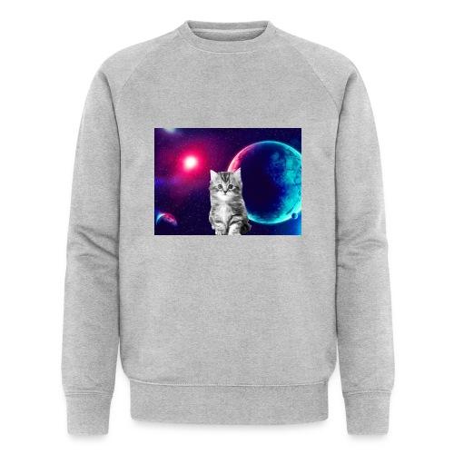 Cute cat in space - Miesten luomucollegepaita