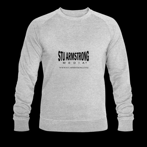 Stu Armstrong Media Black Logo - Men's Organic Sweatshirt by Stanley & Stella