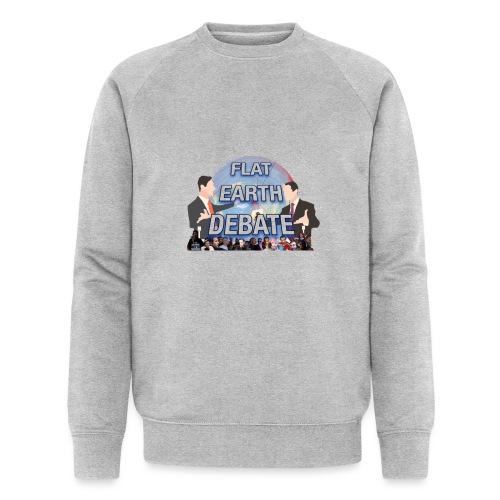 Flat Earth Debate Transparent - Men's Organic Sweatshirt by Stanley & Stella