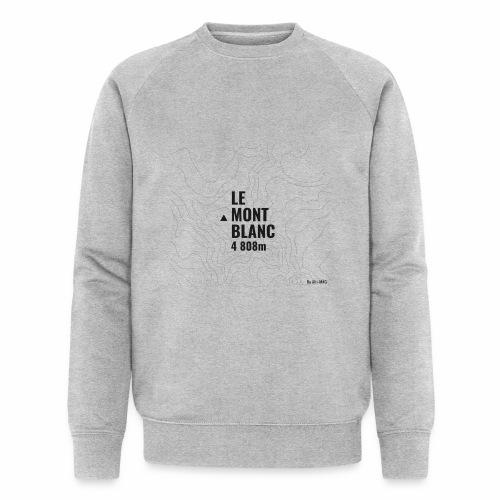 Mont Blanc et courbes de niveau - Sweat-shirt bio Stanley & Stella Homme