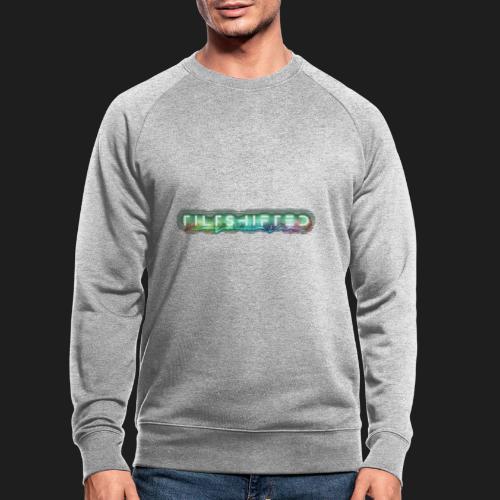 TiltShifted Logo on Black - Miesten luomucollegepaita