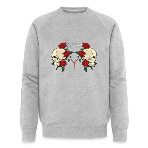YARD skull and roses - Mannen bio sweatshirt