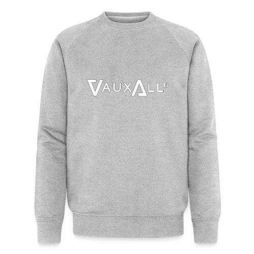 VauxAll Logo | White | Original - Men's Organic Sweatshirt