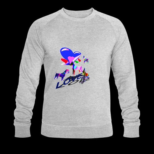 look at these dogs love - Sweat-shirt bio Stanley & Stella Homme