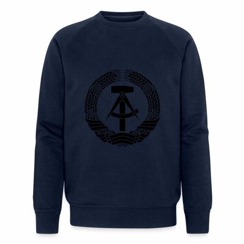 DDR Wappen (schwarz) - Men's Organic Sweatshirt by Stanley & Stella