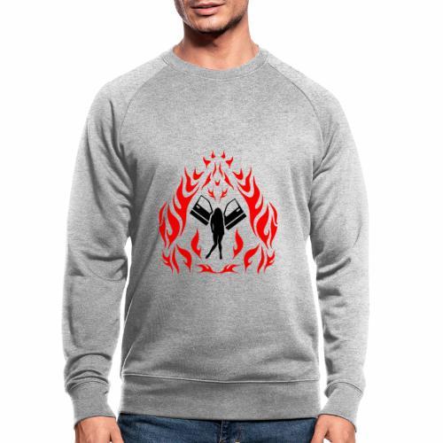 Engel / Flammen - Männer Bio-Sweatshirt
