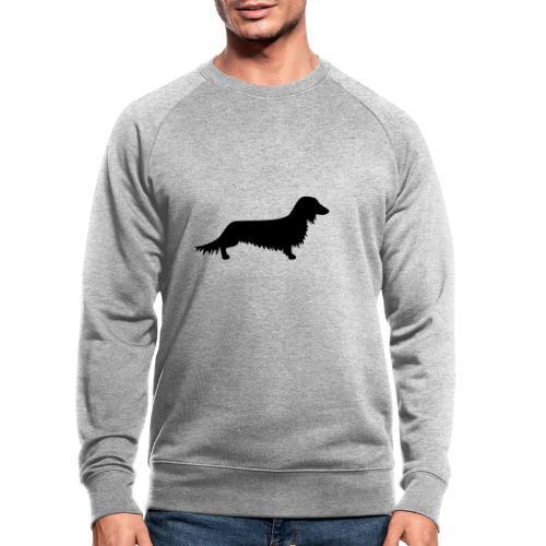 Langhaardackel - Männer Bio-Sweatshirt