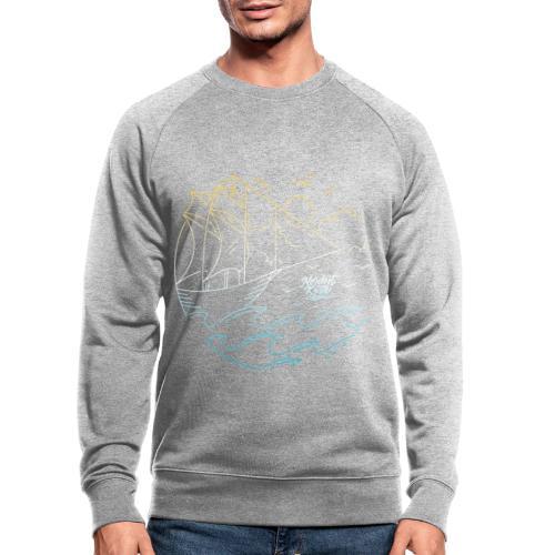 Schiff mit Sonne und Meer - Männer Bio-Sweatshirt