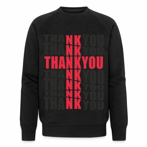Motyw z napisem Thank You - Ekologiczna bluza męska Stanley & Stella