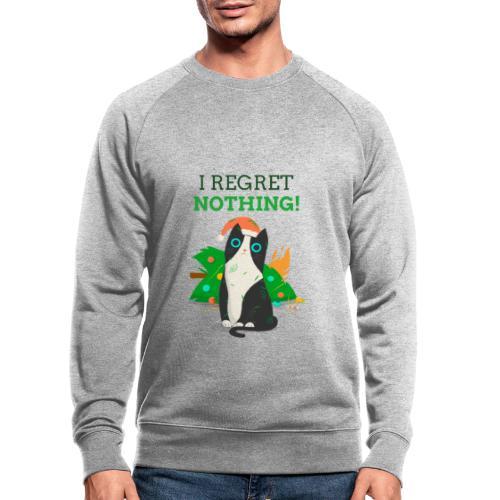 Julegenser med katt - I regret nothing - Økologisk sweatshirt for menn