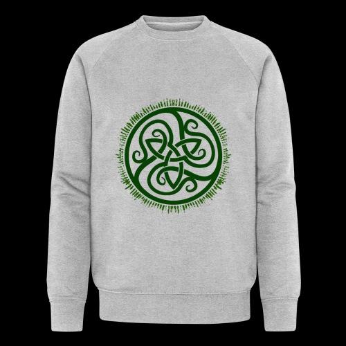 Green Celtic Triknot - Men's Organic Sweatshirt by Stanley & Stella