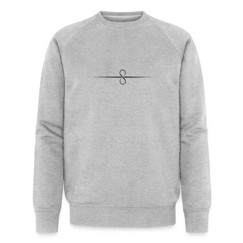 Through Infinity black symbol - Men's Organic Sweatshirt by Stanley & Stella