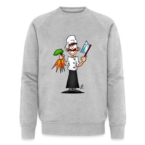 The vegetarian chef - Men's Organic Sweatshirt by Stanley & Stella