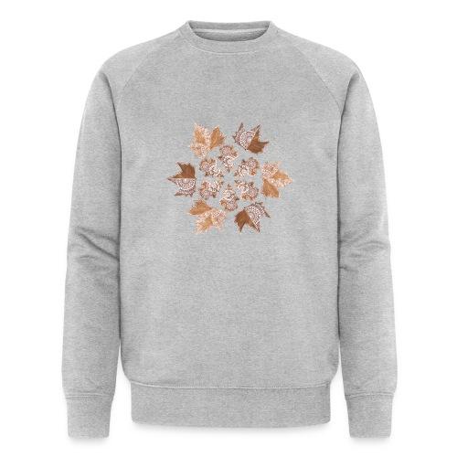 Herbst Mandala - Männer Bio-Sweatshirt