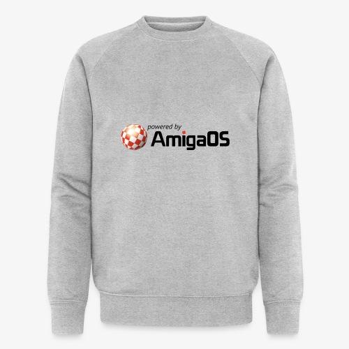 PoweredByAmigaOS Black - Men's Organic Sweatshirt by Stanley & Stella