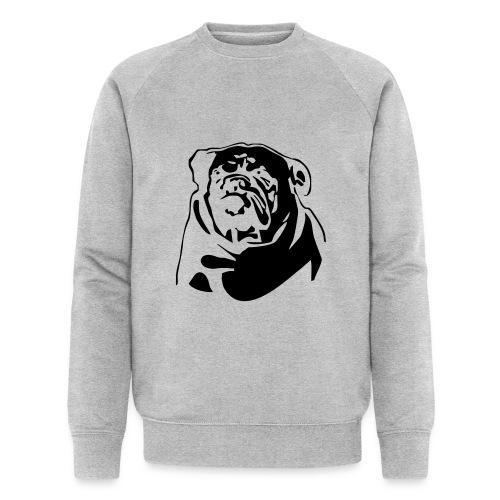 English Bulldog - negative - Miesten luomucollegepaita