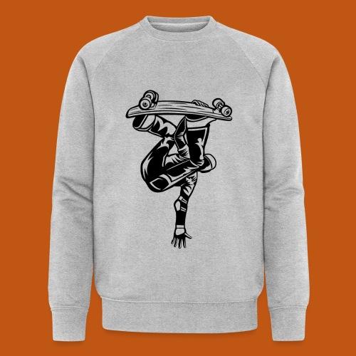 Skater / Skateboarder 03_schwarz - Männer Bio-Sweatshirt von Stanley & Stella