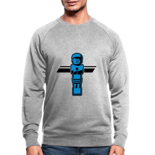 Soccerfigur 2-farbig - Kickershirt - Männer Bio-Sweatshirt