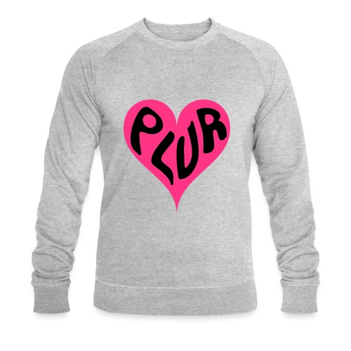 PLUR - Peace Love Unity and Respect love heart - Men's Organic Sweatshirt by Stanley & Stella