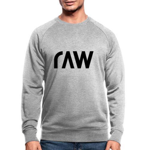 raw.lighting solid dark - Männer Bio-Sweatshirt