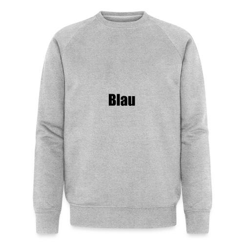 Blau - Männer Bio-Sweatshirt