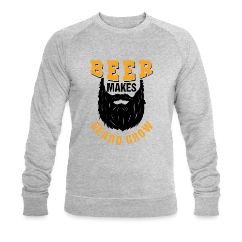 Beer Makes Beard Grow Funny Gift - Männer Bio-Sweatshirt von Stanley & Stella