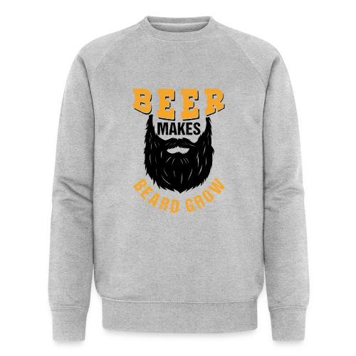 Beer Makes Beard Grow Funny Gift - Männer Bio-Sweatshirt